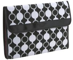 Kailo Chic Collection by Nuo Canvas Laptop Sleeve (11.6 ) - Mod Circles