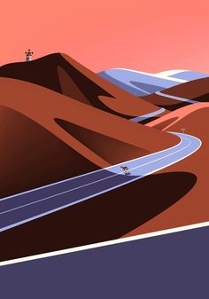 On The Draw, an illustration series depicting the Canary Islands by Malika Favre #illustration
