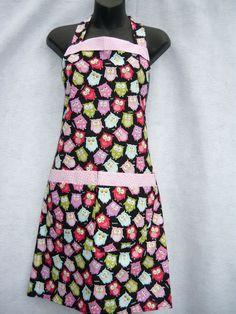 Owls  apron by sewtrendyrose on Etsy, $12.95