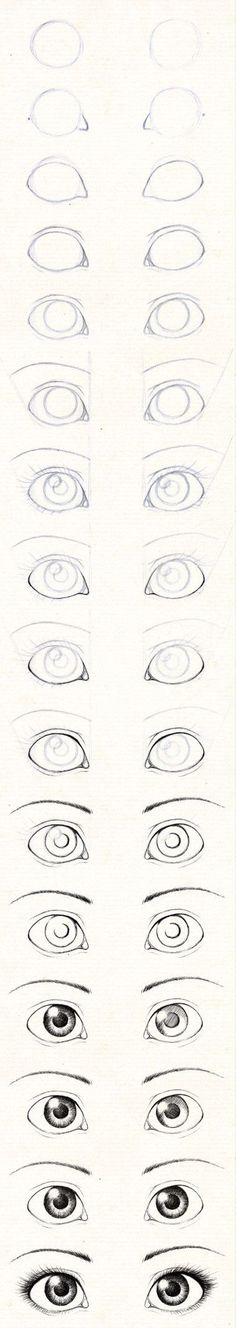 How to draw a beautiful eyes .
