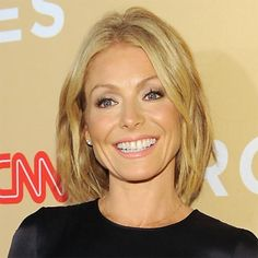 Kelly Ripa's mid-length haircut compliments her sexy square jawline. Click through to see more stars rocking this season's hottest hairstyles: http://www.womenshealthmag.com/beauty/celebrity-haircuts?cm_mmc=Pinterest-_-womenshealth-_-content-beauty-_-celebritieswithfreshhairstyles