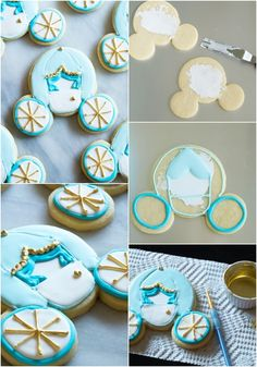 Cinderella Carriage Cookies from a Micky Mouse Cookie Cutter how to make Cinderella carriage cookies . from a Mickey Mouse cookie cutter! Perfect for a Cinderella or princess party!