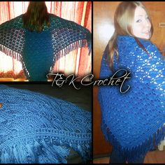 Custom made crochet shawl