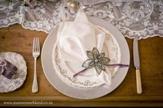 Napkin Detailing. Wedding Detailing Decoration, Wedding Stationery, Napkins, Decorative Plates, Elegant, Tableware, Diy, Inspiration, Style