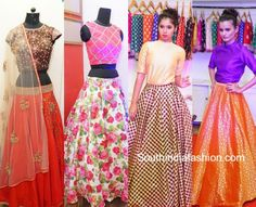 722693b4c9e9c ... South India Fashion. lehengas crop tops 600x487 photo