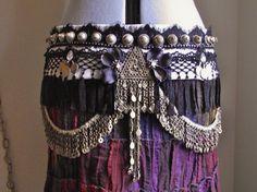 Custom Bellydance Belt- Tribal Fusion, Belly Dance, Vaudeville- Performance Ready. $250.00, via Etsy.