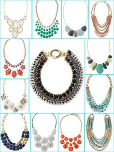 Statement necklaces can transform an outfit and update an old top. Necklaces by Stella & Dot