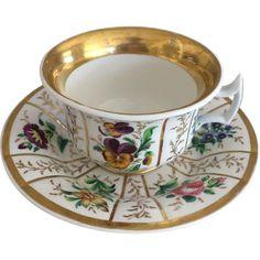 SPM Porcelain Cup & Saucer -ca: 1850