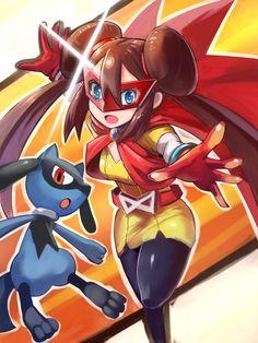 Mei (pokemon) Riolu girl
