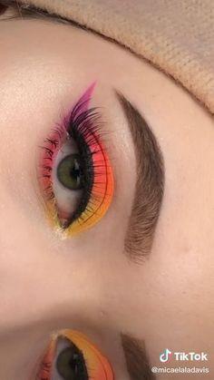 Eye Makeup Steps, Makeup Eye Looks, Eye Makeup Art, Crazy Makeup, Skin Makeup, Makeup Tips, Makeup Geek, Disney Eye Makeup, Anime Makeup