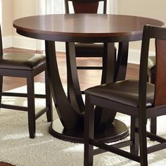 Oakton Counter Table in Black and Chestnut | Nebraska Furniture Mart