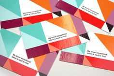 Business cards. Love the colors. #printdesign