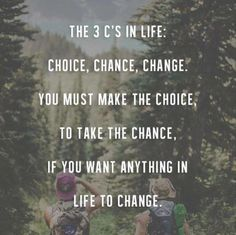 Thought of the Day: TAKE A CHANCE!