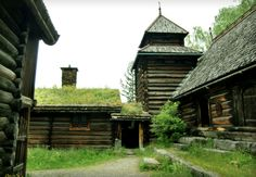 Maihaugen -- Lillehammer, Norway .. old farm buildings and Stave Church is in this Museum built around 1150ad.