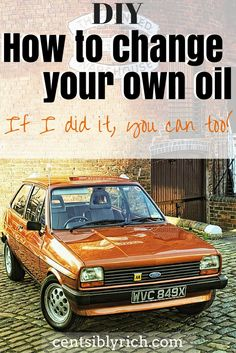 How to change your own oil. I followed this tutorial to change the oil in my car for the first time. Changing our own oil saves us $30 each time and if I can do it, you can too!