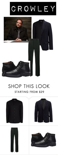 """""""Crowley"""" by aquamarin-lover ❤ liked on Polyvore featuring Topman, Joseph, Raf Simons, Rockport, men's fashion and menswear"""