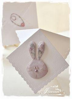 Jiwon's Magnolia Blog: Rabbit handkerchief card