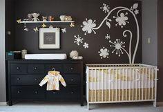 quarto bebe preto imagens Decoração de parede para quarto bebe
