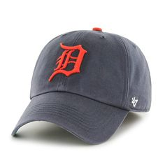 b9c2237470a69 Detroit Tigers MEDIUM 47 Brand Vintage Navy Road Franchise Fitted Hat