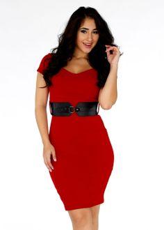 Cute Dresses-Trendy Cocktail Dress-Red elegant dress #dresses #style #fashion #modaxpress