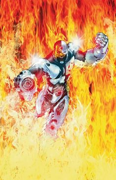 Flashpoint: Cyborg by Miguel Sepulveda Cyborg Dc Comics, Dc Comics Art, Marvel Dc Comics, Comic Book Characters, Comic Character, Comic Books Art, Comic Art, Book Art, Dc World