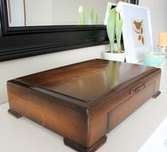 Thrifty Find- Vintage Silverware Chest...paint and use for stationery