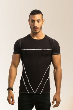 Triangular shape man tshirt, men clothing, man fashion, man geometric shirt, unique man shirt, gift Mens Black Shirt, Stitch Shirt, Womens Workout Outfits, Graphic Shirts, Striped Shorts, Apparel Design, Fit Women, Sexy Men, Shirt Designs