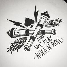 'This is Motörhead, and we play Rock n Roll!' #wannado #viennatattoo…