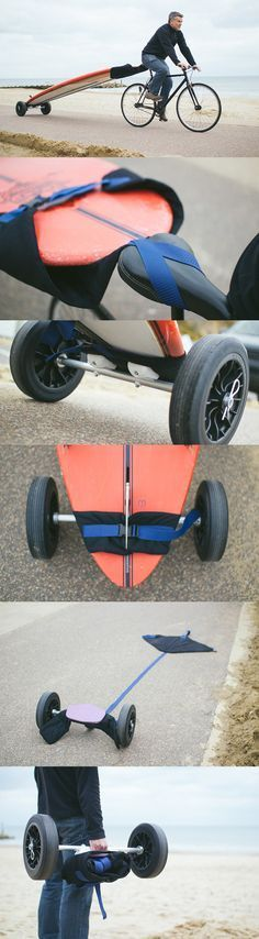 Awesome and easy DIY board carrier for bikes