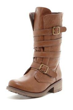 Bucco Strappy Calf Boot