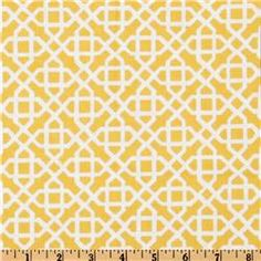 Marigold and Ivory Geometric Pillow (16 x 16). $14.00