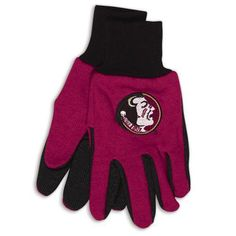 Florida State Seminoles Gloves Two Tone Style Adult Size Special Order