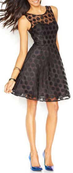 Polka dot dress   #sponsored