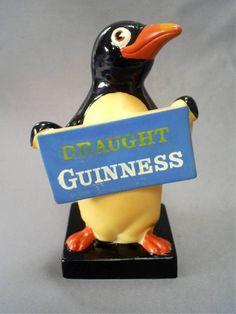 VINTAGE IRISH GUINESS PENGUIN ADVERTISING BAR DISPLAY RUBBEROID FIGURE/SHANNON