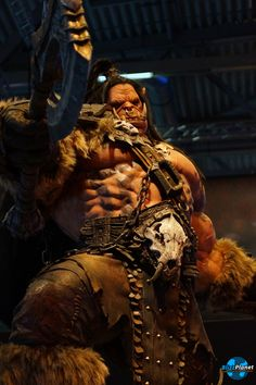 Warlords of Draenor Grom Hellscream, Warlords Of Draenor, Figure Model, World Of Warcraft, Eye Candy, Game Of Thrones Characters, Fantasy, Sculpture, Statue