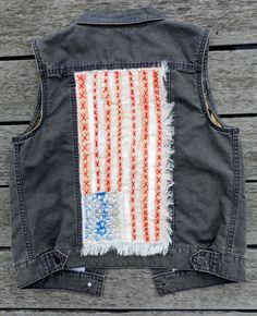 Carhartt Women's Tomboy Hooded Vest with a patriotic twist