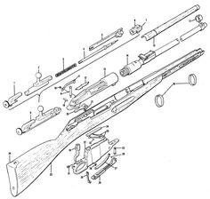 mosin nagant parts and assembly diagram even with corrosive rh pinterest com mosin nagant trigger diagram mosin nagant bolt diagram