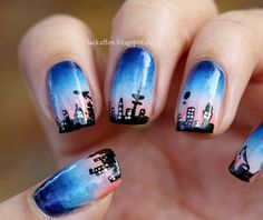 Lackaffen: Hamburg  #nail #nails #nailart