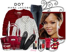 """Dot~Marc Jacobs"" by tracey-puckett ❤ liked on Polyvore"