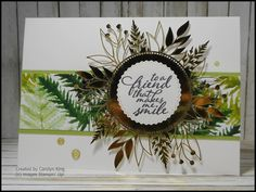 Laser Cut Paper, Green Mat, One Sheet Wonder, Specialty Paper, Some Cards, Cursed Child Book, Embossing Folder, Ferns, Stampin Up Cards