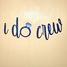 Excited to share the latest addition to my #etsy shop: I DO CREW Banner! http://etsy.me/2FlhWyo #papergoods #banner #brides #mrs #cardstock #bride #banners #sparkly #bachelorette