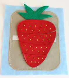 """""""stacking"""" strawberry great for """"Red Ripe Strawberry and the Big Hungry Bear"""