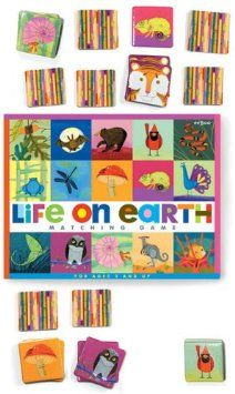 Life on Earth Memory Game is made from 90% recycled materials and a great way to teaches kids about plants and animals!