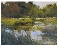 'Sanctuary' by Simon Addyman oil painting - Landscape art. Contemporary Landscape, Landscape Art, Landscape Paintings, Wow Art, Seascape Paintings, Renoir, Art Oil, Monet, Painting Inspiration