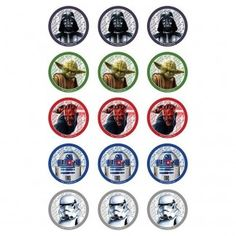 AU Site shipping $10 or free for orders over $99. Pack of 15 Star Wars edible cupcake decorations.Showcase impressive Star Wars cupcakes with our sensational Star Wars Edible Cupcake