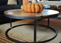 Custom Elm top coffee table