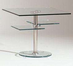 8130 Round Glass Lamp Table