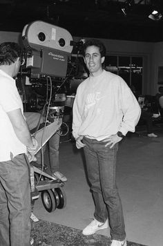 Jerry Seinfeld during the taping of the pilot episode of Seinfeld also known as The Seinfeld Chronicles