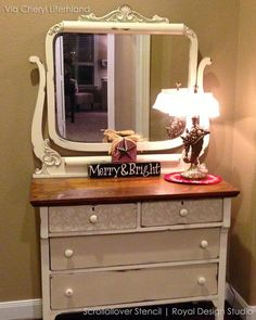 Shabby Chic Decor, pin example reference 6718807616 - Eye pleasing shabby inspirations. easy shabby chic decor home wise examples posted on this day 20190522 Funky Furniture, Shabby Chic Furniture, Furniture Projects, Furniture Makeover, Painted Furniture, Furniture Stencil, Refinished Furniture, Distressed Furniture, Furniture Layout