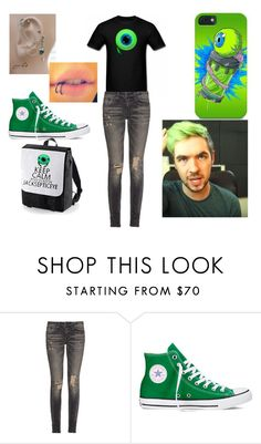 """jacksepticeye outfit"" by mynameish ❤ liked on Polyvore featuring R13 and Converse"